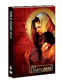 Bible Diary Hard 2018 Red