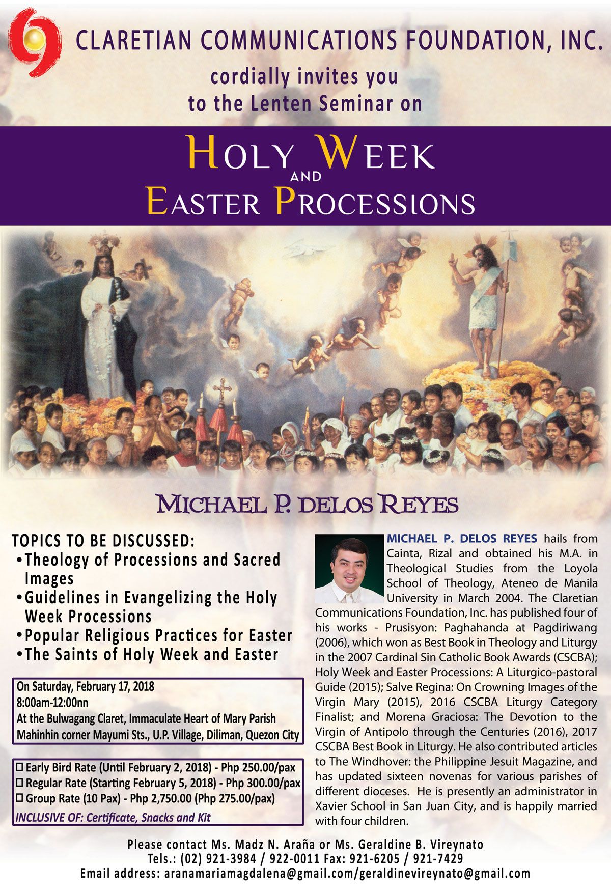 HOLY WEEK AND EASTER PROCESSIONS